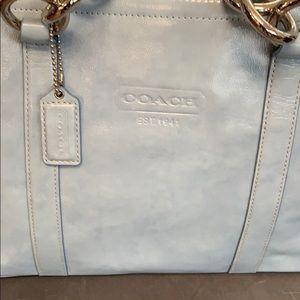 New Coach chambray Patent leather handbag